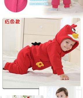 春季男女童装宝宝小鸟卫衣儿童运动套装纯棉婴儿衣服