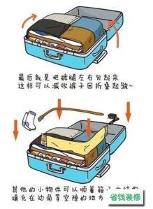 行李箱如何装最多的物品怎么整理行李箱装