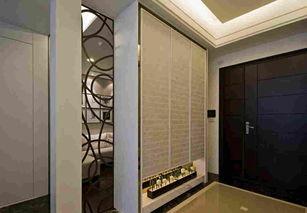 嵌入式鞋柜怎样做玄关 进门门厅玄关家居入墙式鞋柜装修效果图
