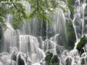 桌面壁纸山水瀑布风景 瀑布山水风景桌面 电脑桌面山水风...-高清瀑布...
