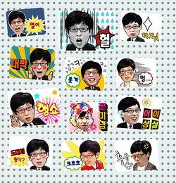 kakao 刘在石 搞笑 表情 系列贴纸 自制手帐周边