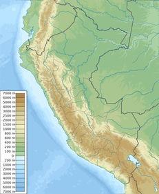 秘鲁地图 地貌图