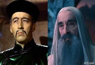 ...满洲(左)和《中环王》中的萨鲁曼巫师(右)-中国人从恶魔变成...