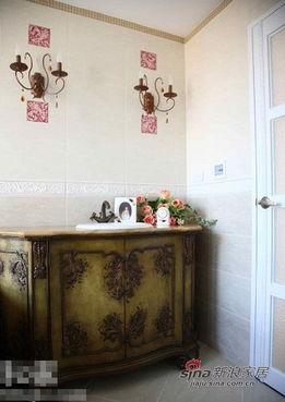 农村家庭房间破旧照片-理的复古浴室柜图片 家居秀  居秀15万清新乡村风单层四房两厅复式家...