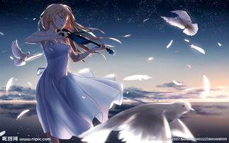 拉小提琴的女孩子